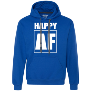 Happy AF – Guys Graphic Long Sleeve Tee Hoodies