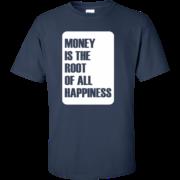 Money Root Happiness – Guys Urban Custom Tee Shirt