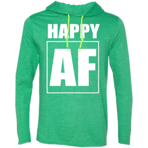 Happy AF – Guys Graphic Long Sleeve T Shirt Hoodies