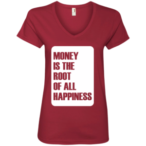 Money Root Happiness – Ladies Graphic Tee Shirt