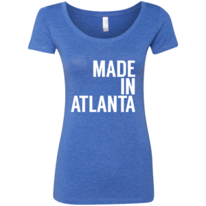 Made In Atlanta – Scoop Neck Graphic Print Tees for Women