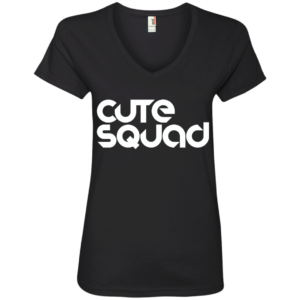 Cute Squad -Urban Club Wear V Neck Tees for Women