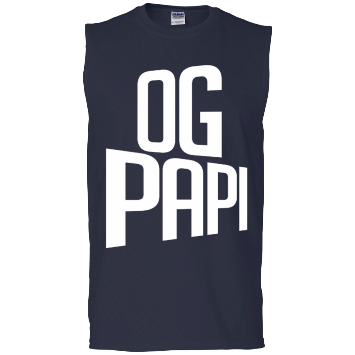 Og papi mens latin fashion sleeveless graphic tees for Sleeveless graphic t shirts
