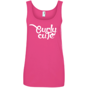 Curly Cute – Womens Urban Wear Trendy Tank Tops Hair Quotes