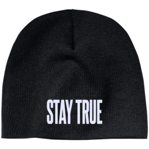 Stay True – Guys Mens Custom Embroidered Beanie
