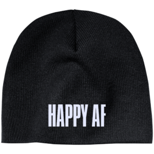 Happy AF – Fashionable Male Custom Made Beanie Hats