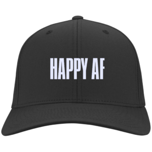 Happy AF – Guys Flexfit Fitted Hats