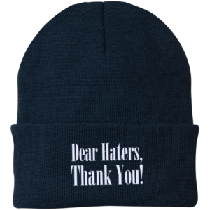 Dear Haters, Thank You – Mens Embroidered Skull Caps